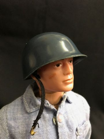 VINTAGE ACTION MAN SAILOR - NAVY ATTACK BLUE HELMET